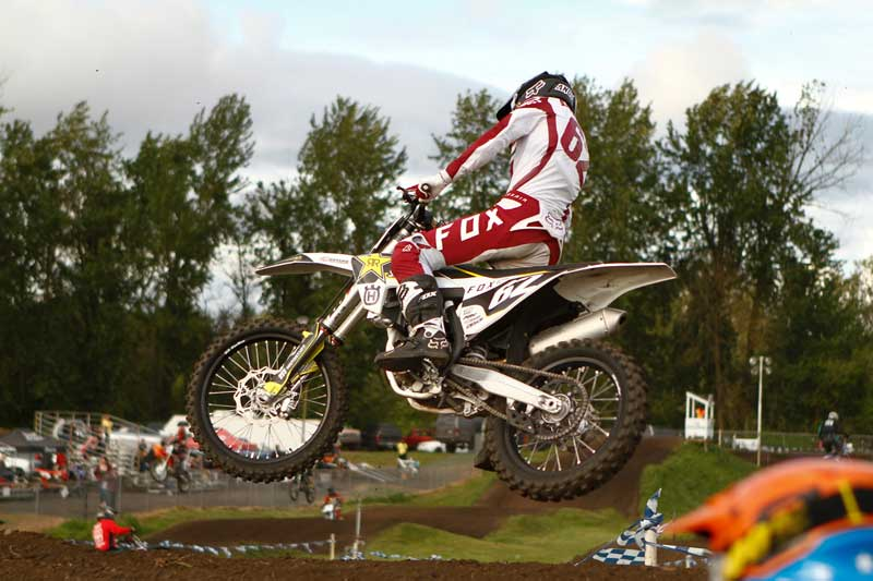 Andy racing Portland International Raceway Thursday night motorcross on his new stock Husqvarna MX bike with summer plans of MX races.